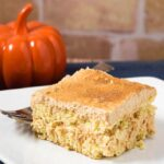 This pumpkin tiramisu is a light and airy twist on the Italian classic. It's no-bake and best when made ahead, which makes it perfect for a holiday dessert! #PumpkinWeek