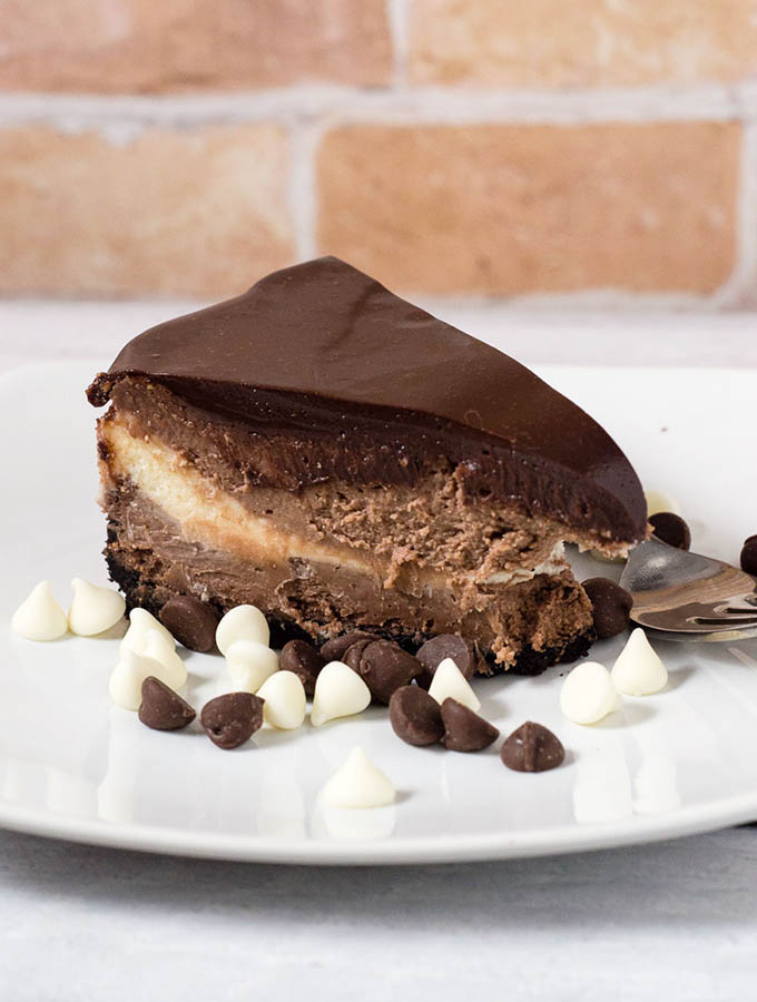 Triple Chocolate Cheesecake #Choctoberfest