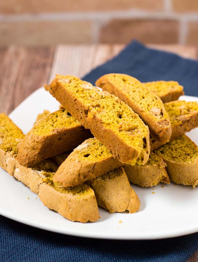 White Chocolate Pumpkin Biscotti #PumpkinWeek
