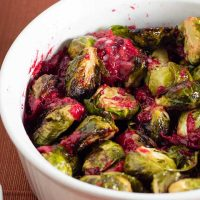 Roasted Brussels Sprouts with Cranberry Brown-Butter Sauce