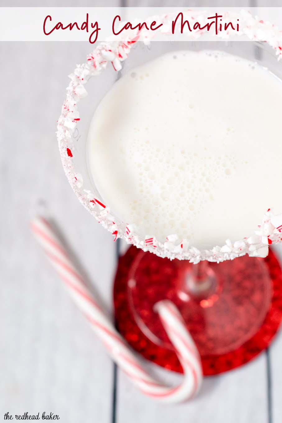 It doesn't get more festive than a candy cane martini for the holidays! Shake up a batch of this creamy cocktail for your holiday party. #ProgressiveEats