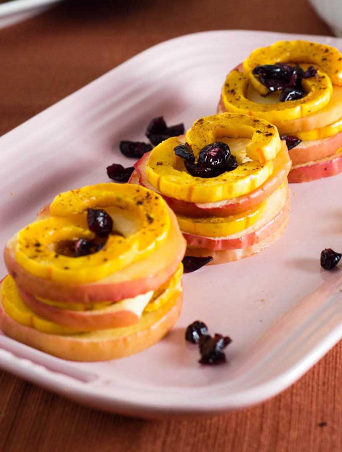 Delicata Squash and Apple Stacks #FabulousFallBounty