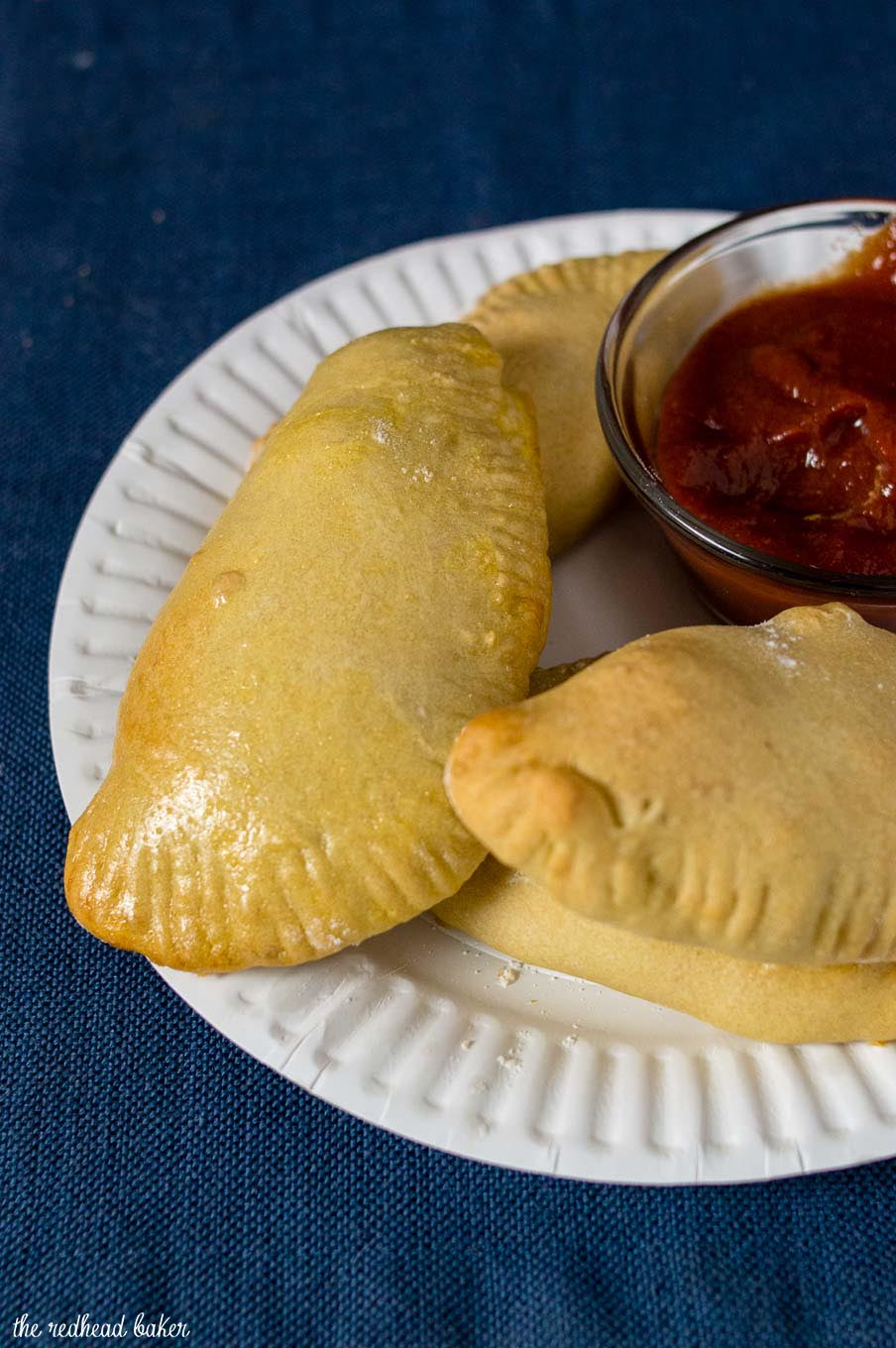 A plate of air-fried philly cheesesteak empanadas