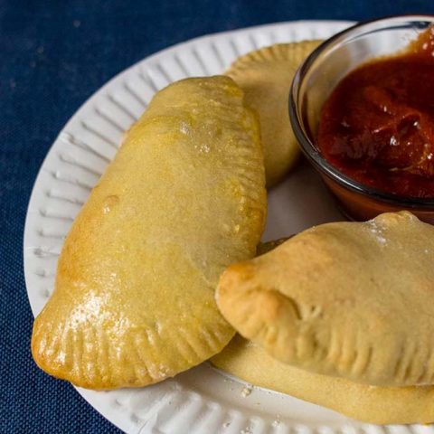 A plate of Philly Cheesesteak Empanadas