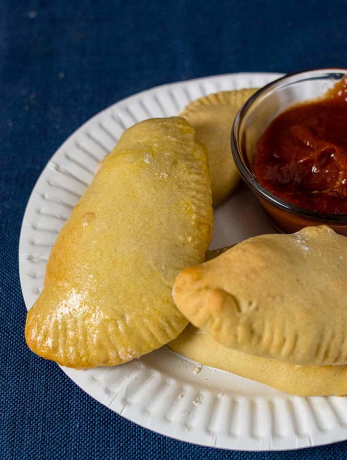 A plate of Philly Cheesesteak Empanadas