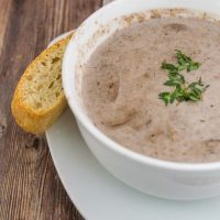 Port Wine Cream of Mushroom Soup