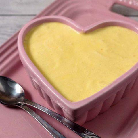 White Chocolate Frozen Mousse with Hazelnut Whipped Cream