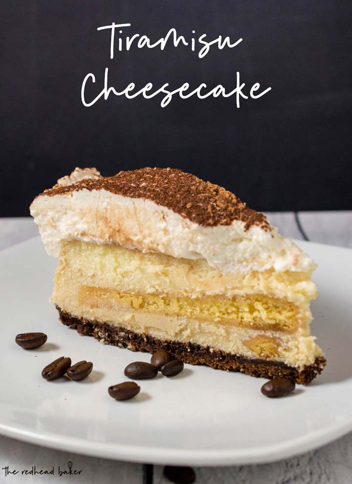 A slice of tiramisu cheesecake