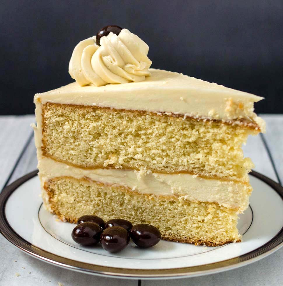 White Chocolate Mocha Layer Cake #ProgressiveEats
