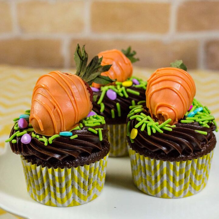 Carrot Patch Chocolate Cupcakes