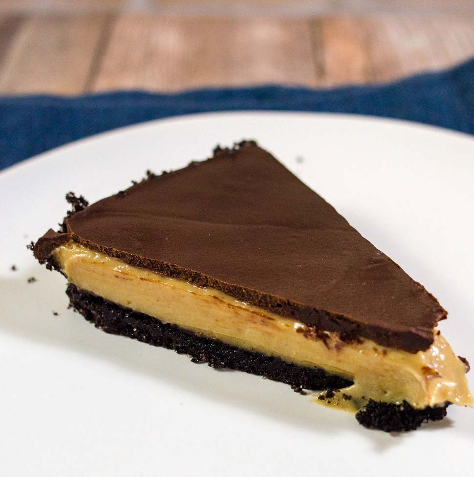 Chocolate Peanut Butter Tart #PiDay