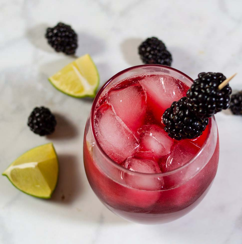 Blackberry Lime Margaritas #ProgressiveEats