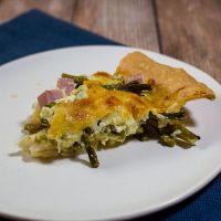 Ham, Asparagus and Gruyere Quiche