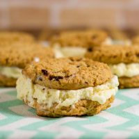 Cinnamon Oatmeal Cookie Ice Cream Sandwiches