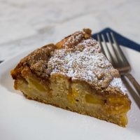 Peach Brown Butter Coffee Cake