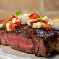 Ribeye Steaks with Corn Salsa
