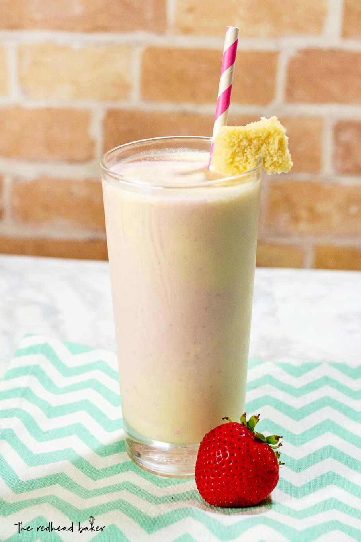 A strawberry shortcake milkshake
