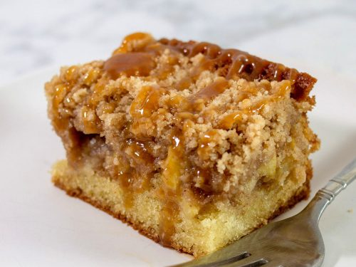 Caramel Apple Crumb Cake Appleweek The Redhead Baker