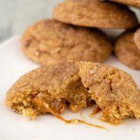 Caramel-Stuffed Apple Butter Snickerdoodles