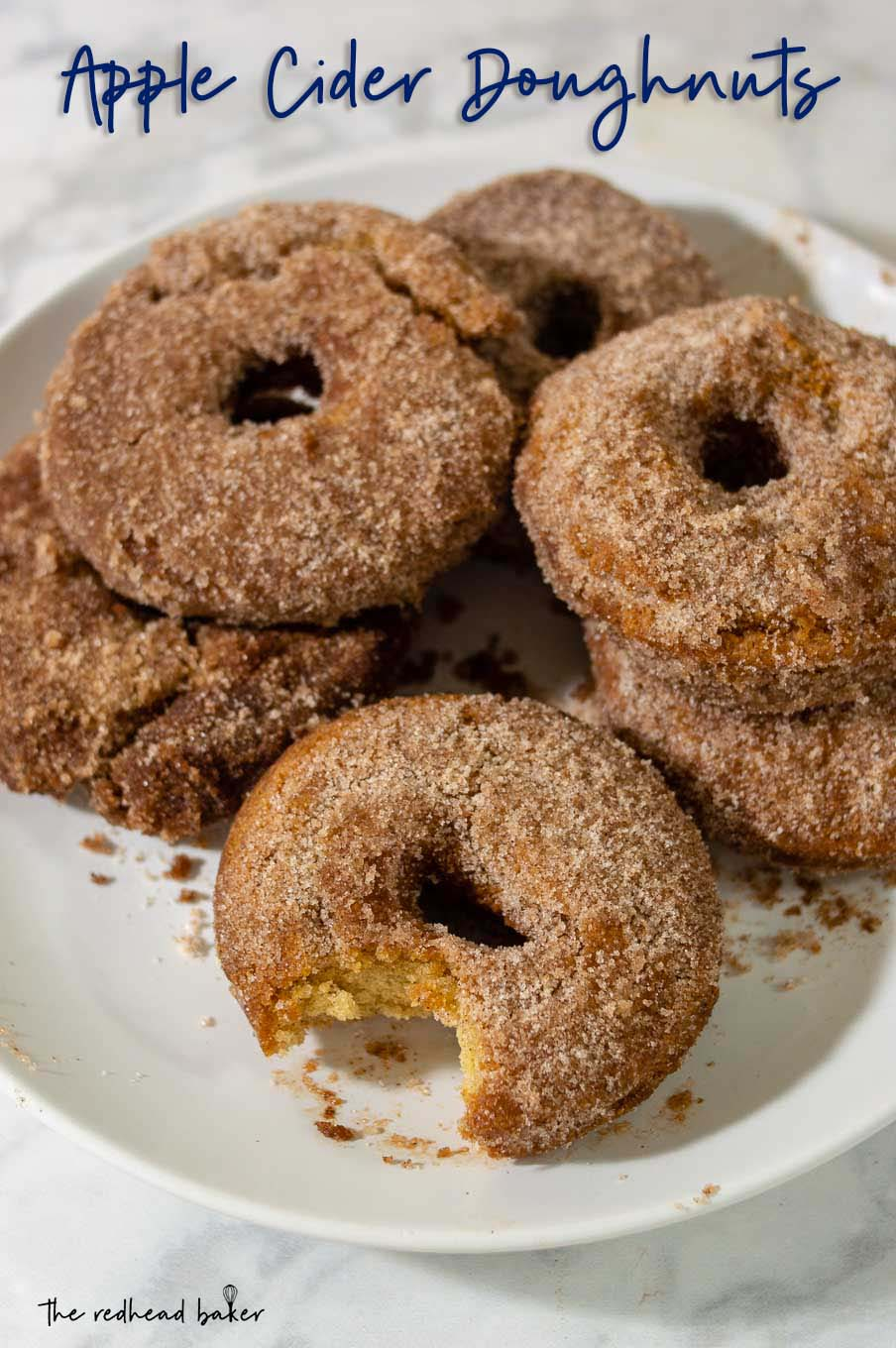 A plate of cider doughnuts.