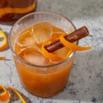 The Pumpkin Old-Fashioned — the classic cocktail of bourbon and orange liqueur gets an autumn twist with pumpkin puree and maple syrup.