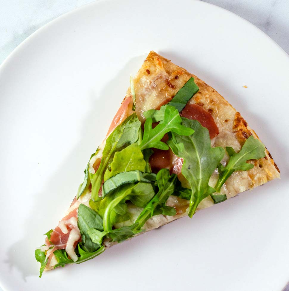 White Pizza with Prosciutto and Arugula