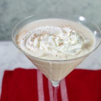 White Chocolate Eggnog Martini