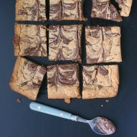 Nutella Swirled Peanut Butter Bars