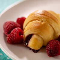 Raspberry Brioche Crescents