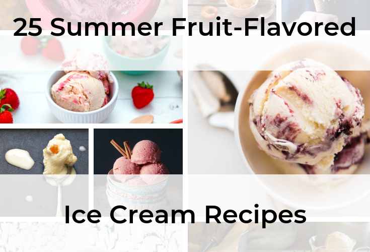 A collage of ice cream recipes