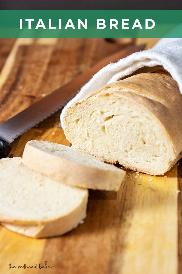 Classic Italian bread is a great option for first-time bread makers. It has a crusty exterior and a soft interior, and great flavor to complement any Italian meal.