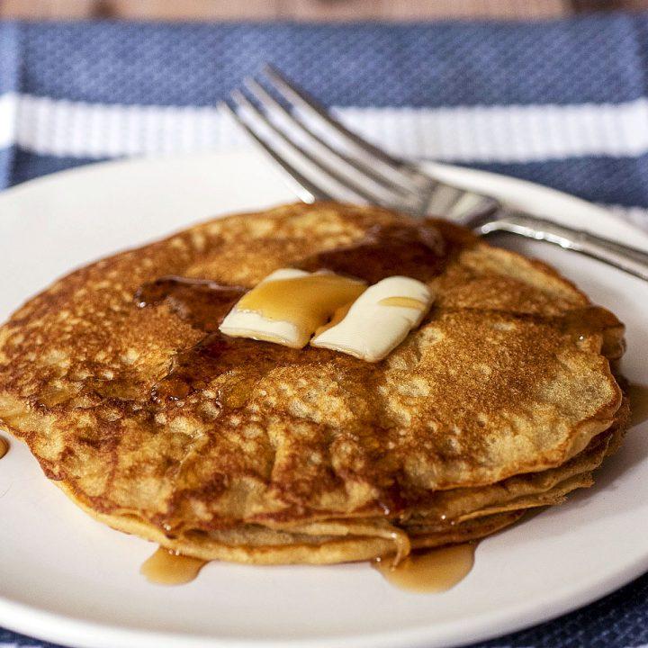 Buttermilk Oat Flour Pancakes